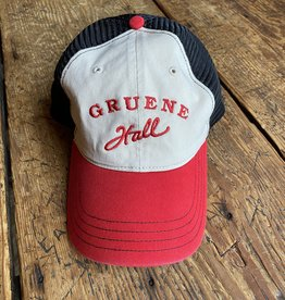 Garment Washed Trucker Cap Red