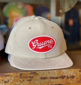 Gruene TX Patch Corduroy Cap Tan