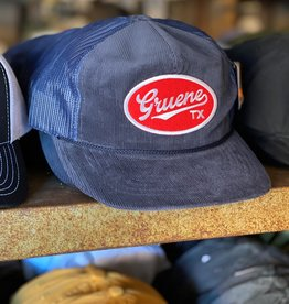 Gruene TX Patch Cap Navy Corduroy
