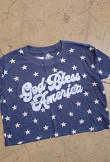 God Bless America Cropped Tee