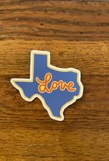 Texas Love Sticker