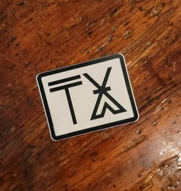 Camp TX Sticker by River Road Clothing