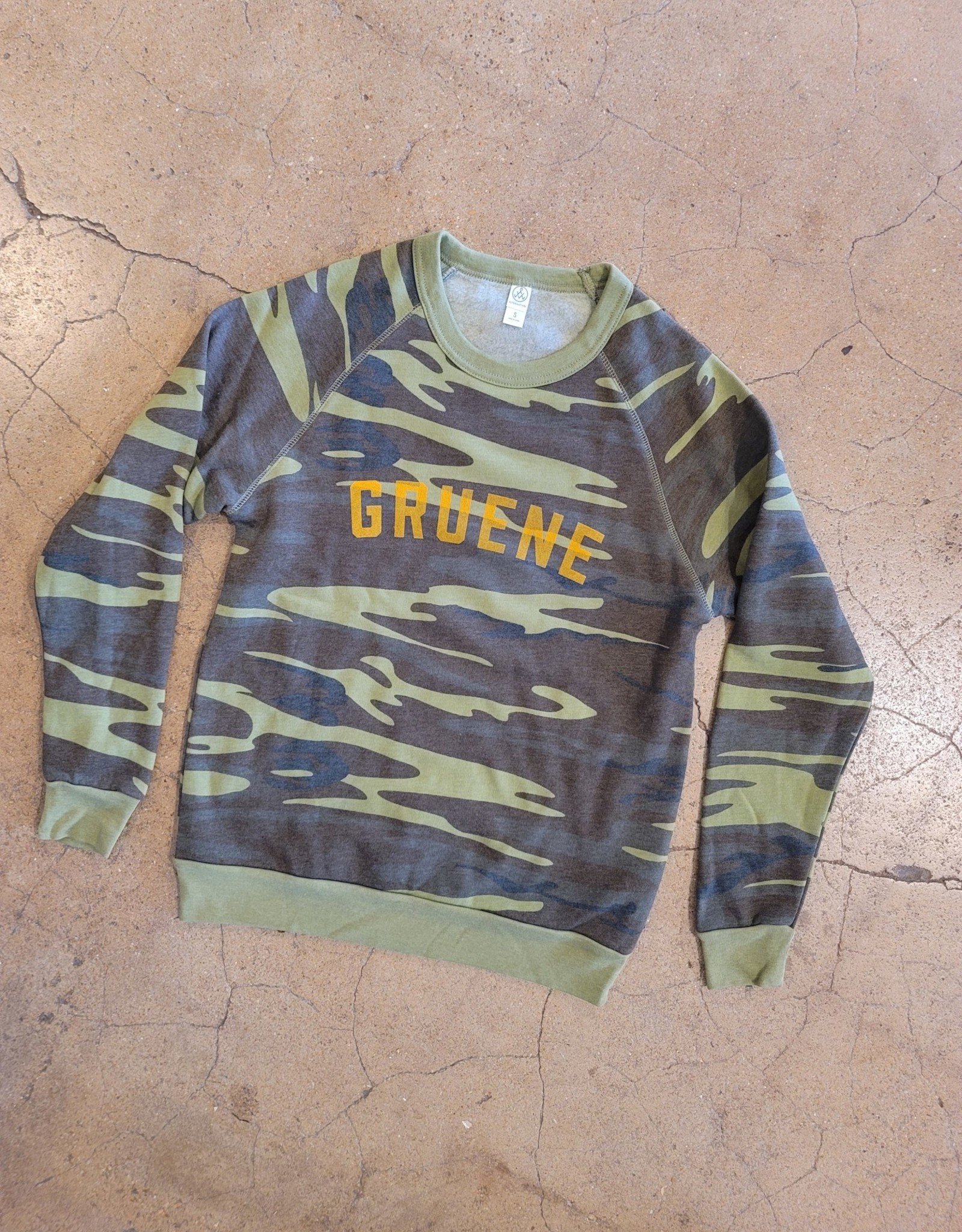 Gruene Varsity Camo Sweatshirt
