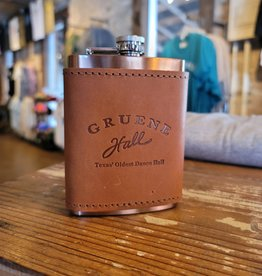 Gruene Hall Copper Plated Flask with Leather Wrap by Oowee