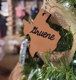 Gruene Texas Wooden Ornament