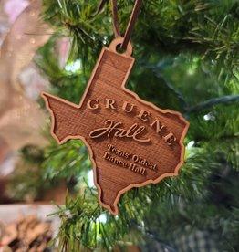 Gruene Hall Logo Wooden Ornament