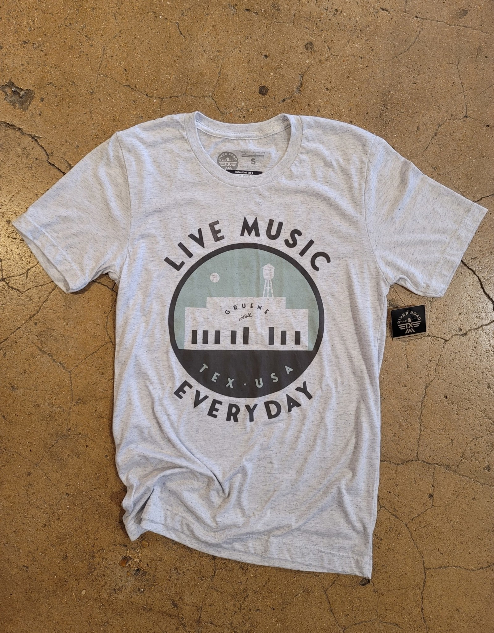 Gruene Hall Live Music Everyday Tee by River Road Clothing