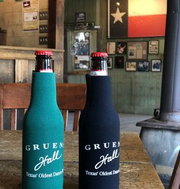 Gruene Hall Zip Beer Bottle Koozie