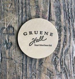 Gruene Hall Leather Coaster