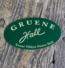 Gruene Hall Bumper Sticker Green