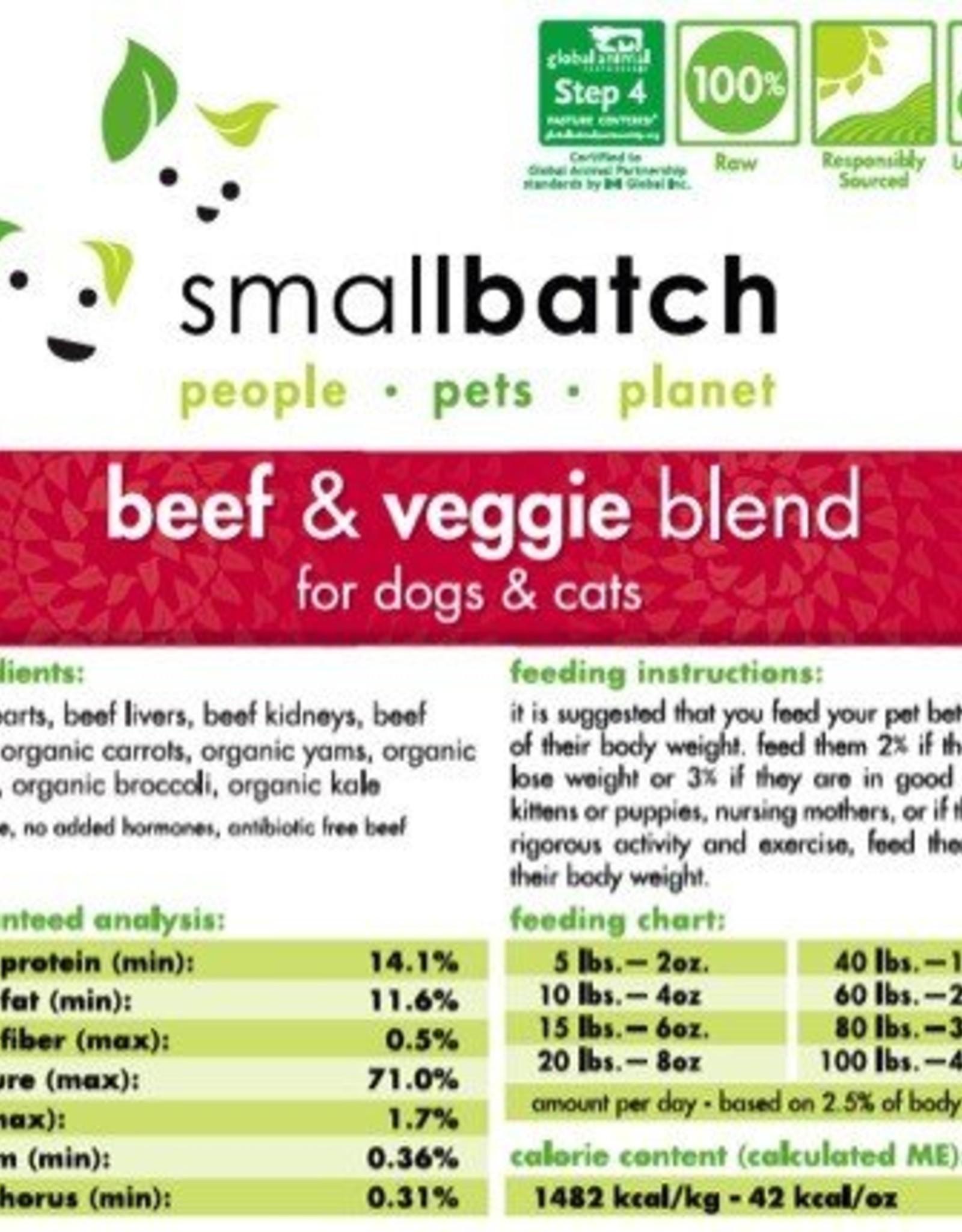 Smallbatch Smallbatch Beef & Vegetable 2lb