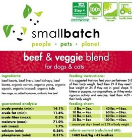 Smallbatch SALE - Smallbatch Beef & Vegetable 2lb