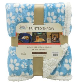 Arlee Pet Products Arlee Rover Throw Puppy Blue/White