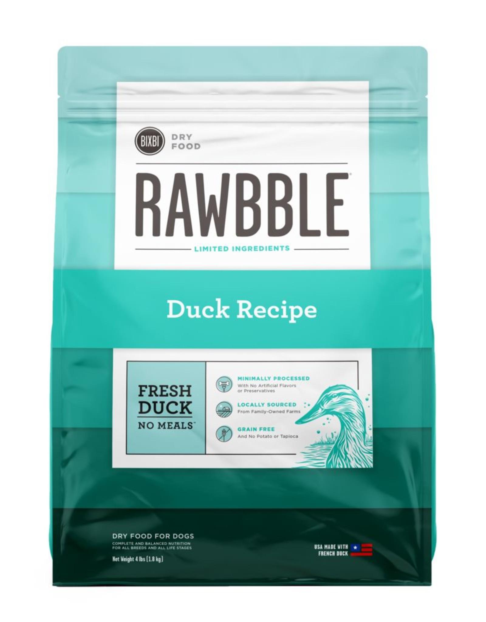 Bixbi Rawbble Limited Ingredient Duck
