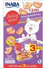 Inaba Ciao Cat Treats Ciao Cat Juicy Bites Shrimp & Seafood Flavor Treat
