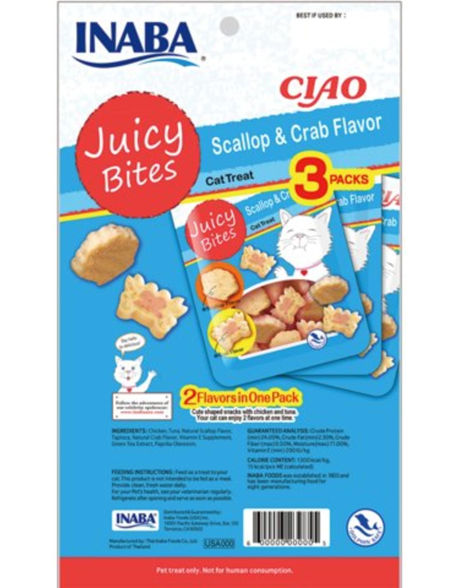 Inaba Ciao Cat Treats Ciao Cat Juicy Bites Scallop & Crab Flavor Treats