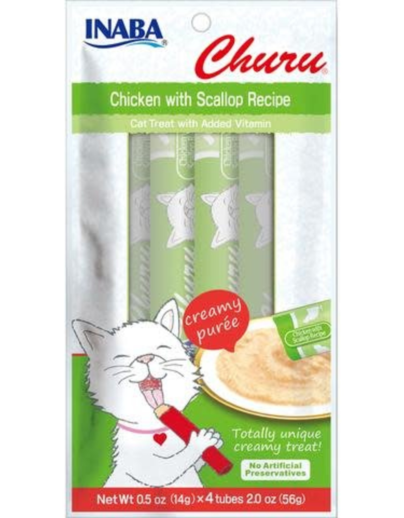 Inaba Ciao Cat Treats Ciao Churu Chicken with Scallop Recipe