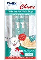 Inaba Ciao Cat Treats Ciao Churu Chicken with Crab Flavor Recipe