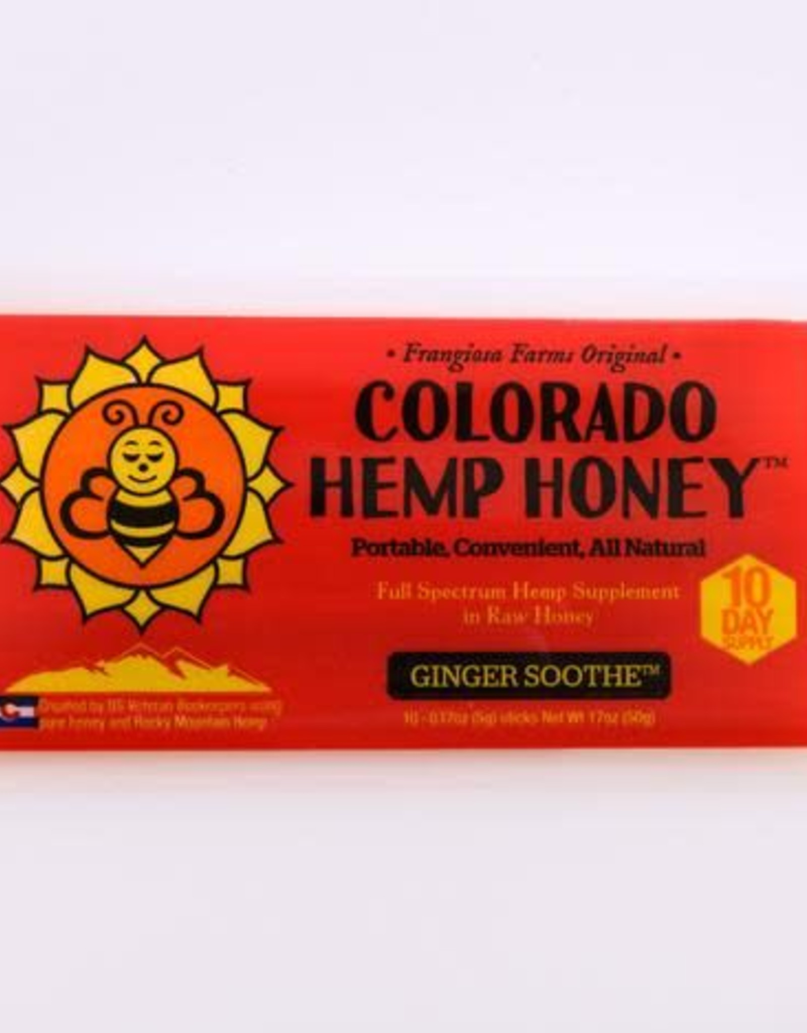 Colorado Hemp Honey Colorado Hemp Honey Ginger Soothe Stix