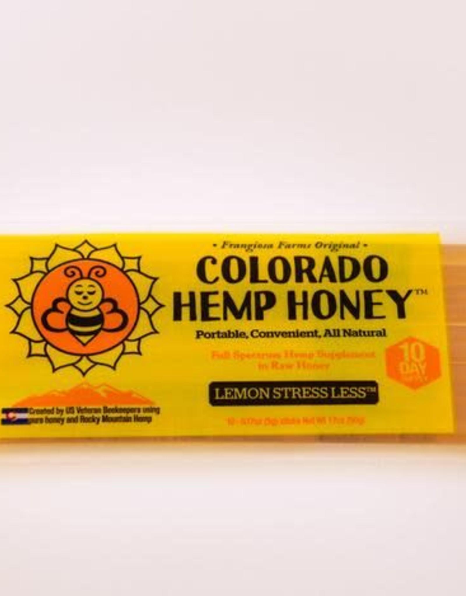 Colorado Hemp Honey Colorado Hemp Honey Lemon Stress Less Stix