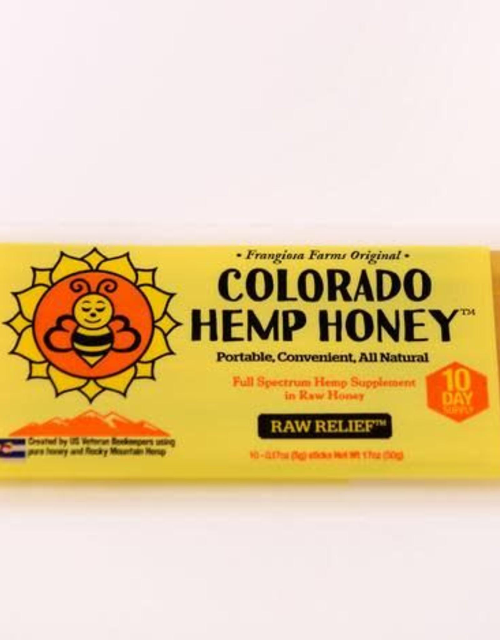 Colorado Hemp Honey Colorado Hemp Honey Raw Relief Stix
