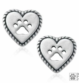 Dazzling Paws Jewelry Dazzling Roped Into Your Love Post Earrings 2215