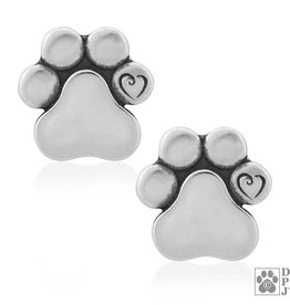Dazzling Paws Jewelry Dazzling Unconditional Love Earrings 1021E