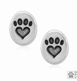 Dazzling Paws Jewelry Dazzling We Love Paws Post Earrings 2232