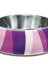 Dogit  Style Bowl Purple Wild Stripes XS