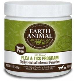 Earth Animal Flea & Tick Herbal Internal Powder Yeast Free 8oz