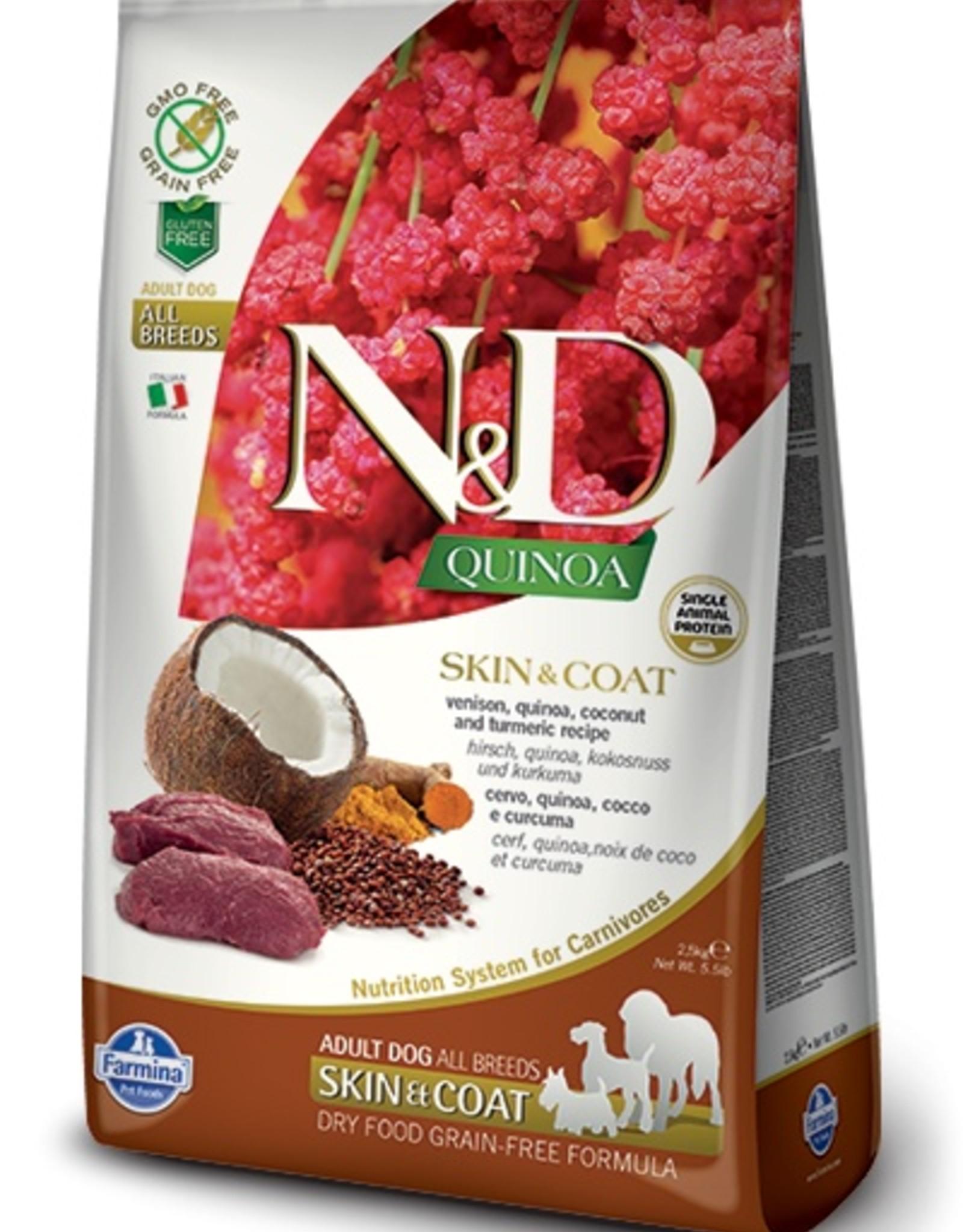 Farmina Farmina N&D Quinoa - Skin & Coat Venison Adult