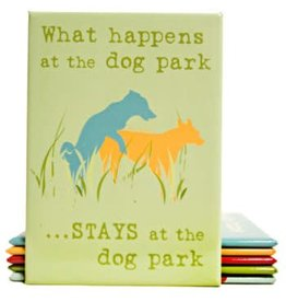 Dog Is Good Refrigerator Magnet - What Happens At The Dog Park
