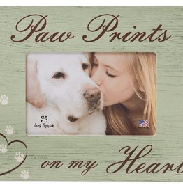 Dog Speak Dog Speak Frame - Paw Prints on My Heart