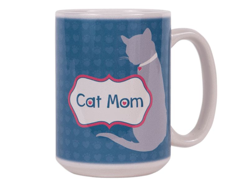 15oz Speak Big Coffee Cat Dog Mom Mug PiTkXOZu