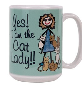 Dog Speak Dog Speak Big Coffee Mug 15oz - Yes! I am the Cat Lady