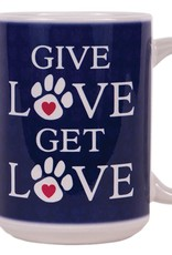 Dog Speak Dog Speak Big Coffee Mug 15oz - Give Love Get Love