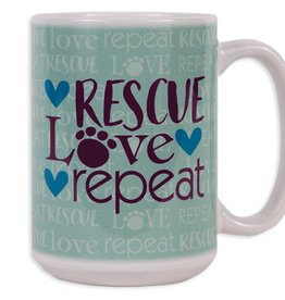 Dog Speak Dog Speak Big Coffee Mug 15oz - Rescue Love Repeat