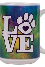 Dog Speak Dog Speak Big Coffee Mug 15oz - Tie Dye LOVE