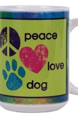 Dog Speak Dog Speak Big Coffee Mug 15oz - Peace Love Dog