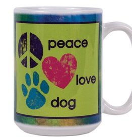Dog Speak Dog Speak Big Coffee Mug 15oz - Peace Love Dog