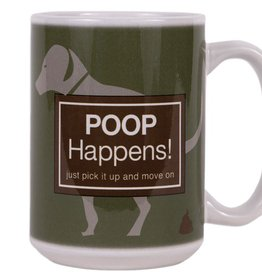 Dog Speak Dog Speak Big Coffee Mug 15oz - Poop Happens!