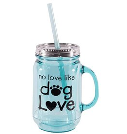 Dog Speak Dog Speak Mason Jar 20oz - No Love Like Dog Love