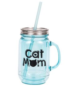 Dog Speak Dog Speak Mason Jar 20oz - Cat Mom