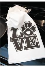 Dog Speak Dog Speak Kitchen Towel - LOVE