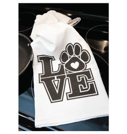 Dog Speak Dog Speak Kitchen Towel - LOVE