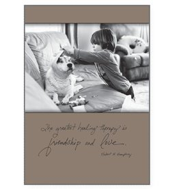 Dog Speak Dog Speak Card - Get Well - The Greatest Healing Therapy is Friendship & Love