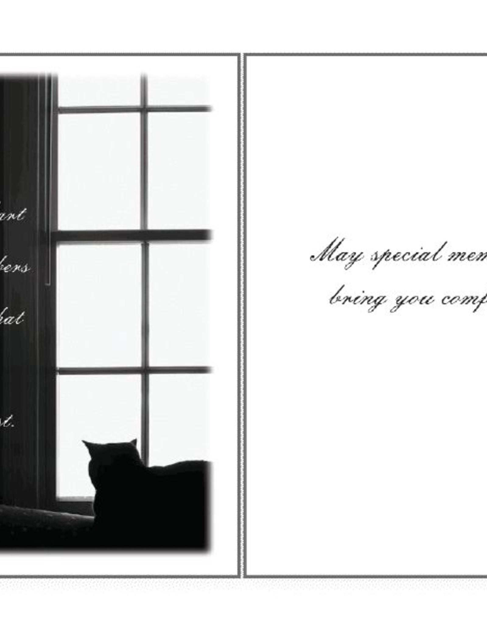 Dog Speak Dog Speak Card - Sympathy Cat- The Heart Remembers