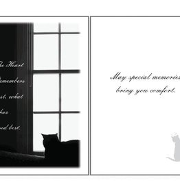 Dog Speak Dog Speak Card - Sympathy Cat- The Heart Remembers