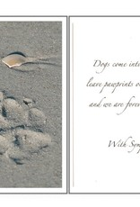 Dog Speak Dog Speak Card - Sympathy - Paw Prints