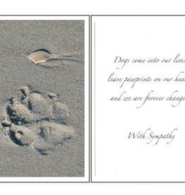 Dog Speak Dog Speak Card - Sympathy - Paw Prints